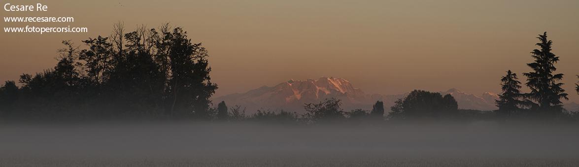 Monte Rosa dalla pianura