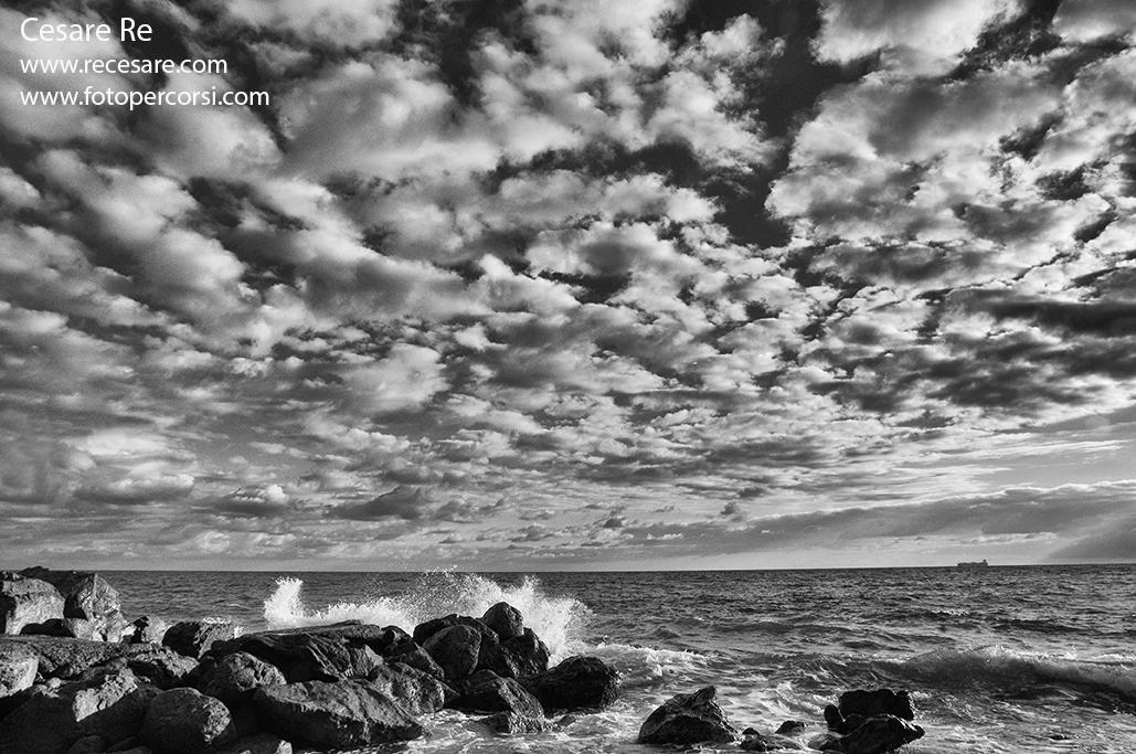 Mare e nuvole ad Arenzano