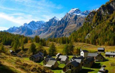 Crampiolo, paesino di montagna, all'Alpe Devero