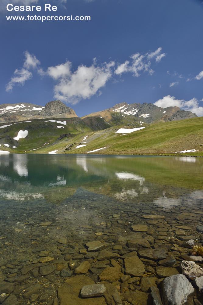 lago Rosset, al Colle del Nivolet, nel Parco Nazionale del Gran Paradiso.
