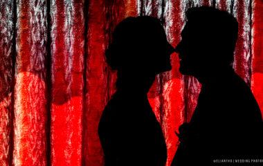 uomo e donna fotografati in silhouette